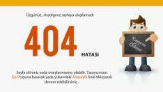 404 Hatası ve Çözüm İşlemleri